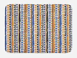 Ambesonne Tribal Bath Mat by, Watercolor Chevron Zigzags wit