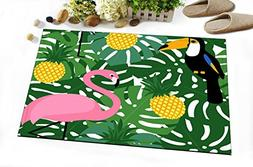 Tropical Fruit Pineapple Ananas Decoration Stylish Bath Rugs