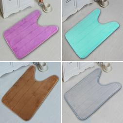 Bathroom Rug U-shaped Toilet No Slip Pedestal Rug Mat Bath M