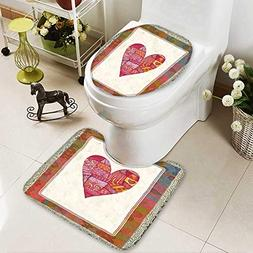 aolankaili U-Shaped Toilet Mat-Soft Heart,Greeting Card for