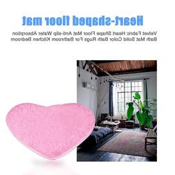 Velvet Fabric Heart <font><b>Shape</b></font> Floor <font><b