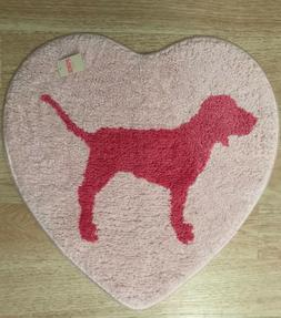 Victoria's Secret PINK Dog Logo Heart Shape Bath Rug Mat Car