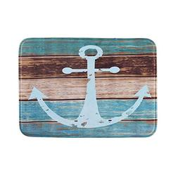 Uarter Vintage Retro Nautical Anchor Bathroom Rug Anti-slip