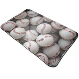 Warm-Tone Baseball Wallpaper Memory Foam Bath Mat Non Slip A