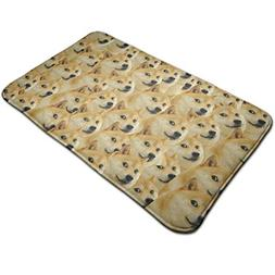 Warm-Tone Doge Wallpaper Memory Foam Bath Mat Non Slip Absor