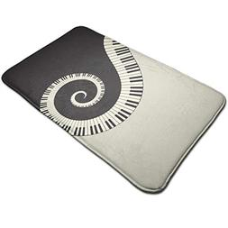 Warm-Tone Piano Keyboard Wallpaper Memory Foam Bath Mat Non