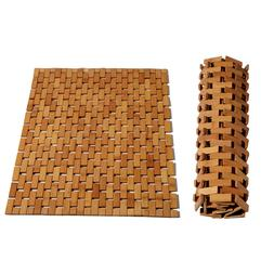 Wood Non Slip Bath Mat Safety Anti Skid Shower Protection Oi