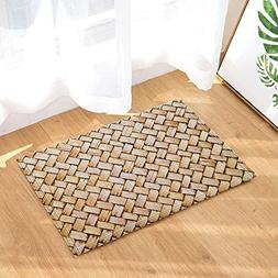 NYMB Wooden Decor, A Piece of Knitted Bamboo Chip Bath Rugs