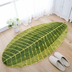Youngshion Tropical Leaf Water Absorbing Area Rug Mat Non-Sl