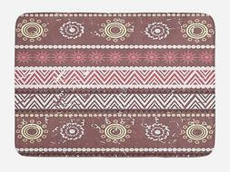 "Zambia Bath Mat Bathroom Decor Plush Non-Slip Mat 29.5"" X 17"