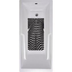 No Slip Mat by Versatraction Zebra Bath Tub and Shower Mat